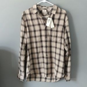AG Adriano goldschmied plaid button-down shirt M